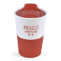 Small double walled take our coffee cup in red and white