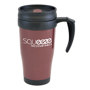 400ml travel mug in brown with large branding area