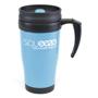 400ml plastic double walled travel mug with handle