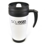 400ml black and white promotional reusable coffee cup