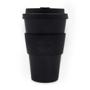 Promotional black 14oz reusable coffee mug