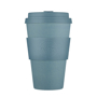 Reusable coffee mug in grey with matching sleeve and lid