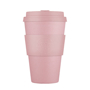 Double walled pink drinks mug with 14oz capacity