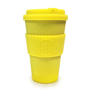Yellow 14oz promotional hot drinks coffee cup