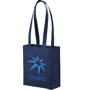 Navy tote bag with long handles for promotional merchandise