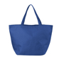 Blue non-woven shopping tote bag