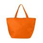 Large shopper bag in orange with long handles