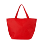 Large shopper bag in red with long handles made from non-woven shopping material