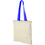 Natural coloured shoppr bag with blue handles
