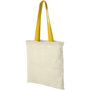 Cotton shopper bag with yellow handles