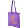 Purple tote bag with long handles