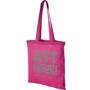 Magenta cotton shopping tote bag