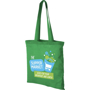 Green tote bag with matching coloured handles