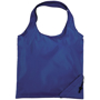 Corner pouch foldable shopper bag with round handles in blue
