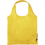 Pack away foldable shopping tote in yellow with loop handles