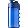500ml sports bottle in translucent blue with flip lid