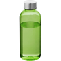 600ml drinking bottle in translucent green with silver screw on cap