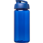 Blue sports bottle with matching flip top lid