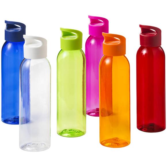 650ml slimline sports bottles in a range of bright colours