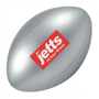 Rugby Ball Shape Stress Item Silver