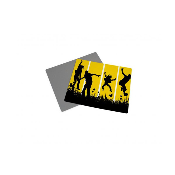 Soft cling mouse mat with full colour artwork printed to one side