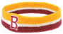Head Sweat Band Yellow and Brown Example With Branding
