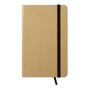 A6 evernote recycled paper notebook with black elastic closure strap and ribbon