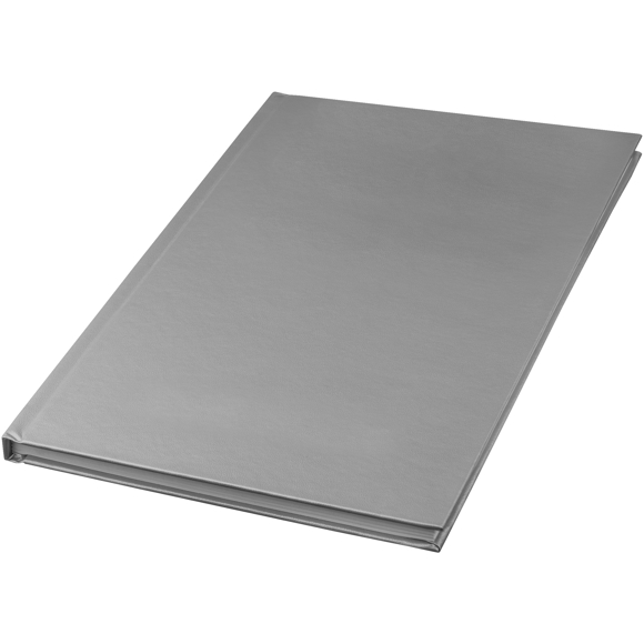 A5 hard backed notebook in silver