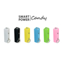 Rectangular power bank in a range of candy colours