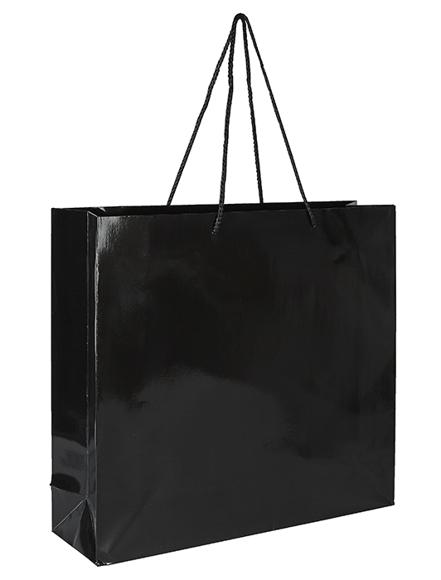 Black bag with black rope handle