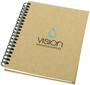 A6 Wirobound Notebook with natural recycled cover and 2 colour print logo