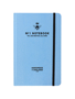 Will Bees Quarto Notebook in blue with black elastic closure strap and black embossed logo
