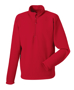 1/4 zip microfleece in red with cadet collar and zip protector