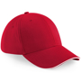 Athleisure 6 Panel Cap in red with white trim