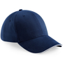 Athleisure 6 Panel Cap in navy with white trim