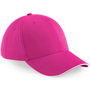 Athleisure 6 Panel Cap in pink with white trim