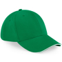 Athleisure 6 Panel Cap in green with white trim
