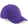 Athleisure 6 Panel Cap in purple with white trim