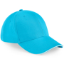 Athleisure 6 Panel Cap in cyan with white trim