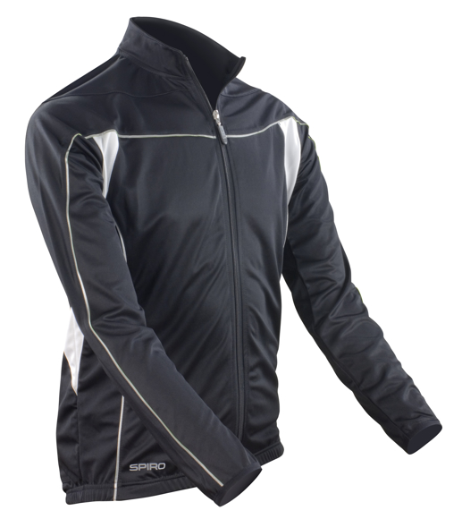 Men's Bikewear Long Sleeved Top in black with reflective piping  detail