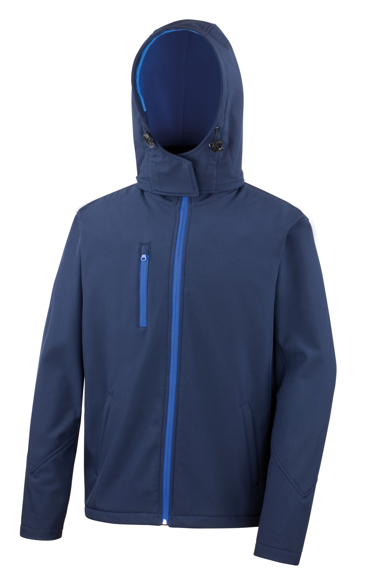 Men's Core Performance Softshell jacket in navy with blue details