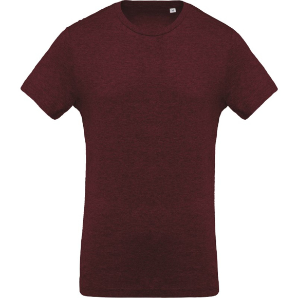 Men's Organic Cotton T-shirt in burgundy