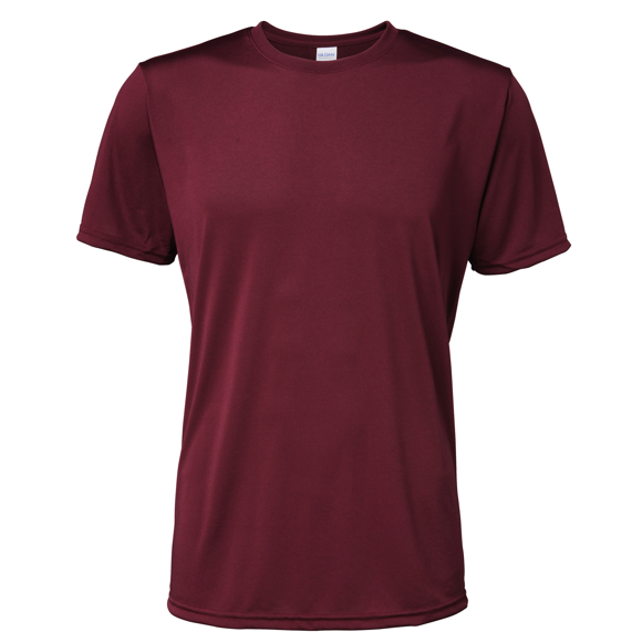 Men's Performance Core T-shirt in burgundy
