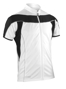 Spiro Bikewear full zip in white with reflective piping and black contrast panels