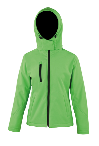 Women's Core Performance Softshell Jacket in green with black details