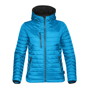 Women's Gravity Thermal Softshell in blue with black details