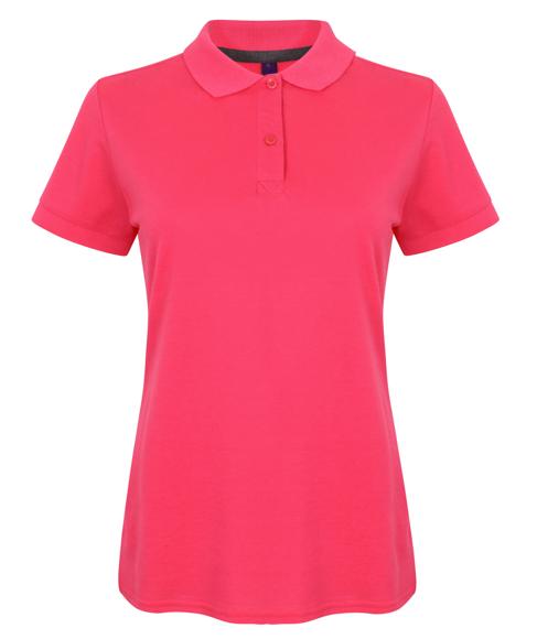 Women's Micro-fine Pique Polo Shirt in pink