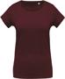 Women's Organic Cotton T-shirt in burgundy