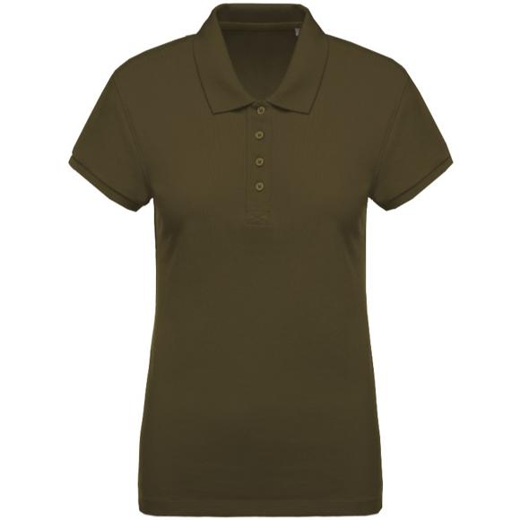 Women's Organic Polo Shirt in khaki