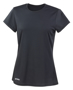 Women's Quick Dry Short Sleeved in black